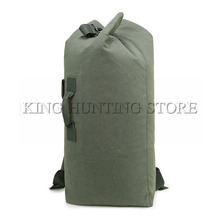 DUTOLE Multi-purpose Military Canvas Backpack Solid Color Men Weekend Sports Travel Duffle Bags Outdoor Tactical Rucksack