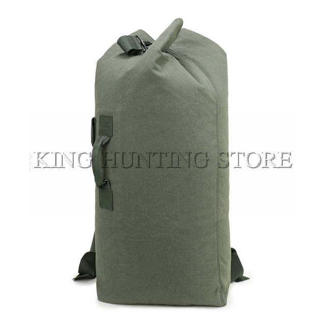 fccc93df8 DUTOLE Multi-purpose Military Canvas Backpack Solid Color Men Weekend Sports  Travel Duffle Bags Outdoor