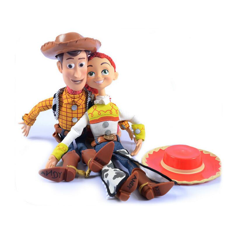Image 4 - 2019  Toy Story 4 Talking Jessie Woody PVC Action Toy Figures Model Toys Children Birthday Gift Collectible Doll Free ShippingAction & Toy Figures   -