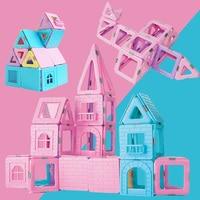 55pcs 188pcs Magnetic Blocks Designer Construction Toys Model&Magnetic Building Blocks Educational Toys For Kids Gift