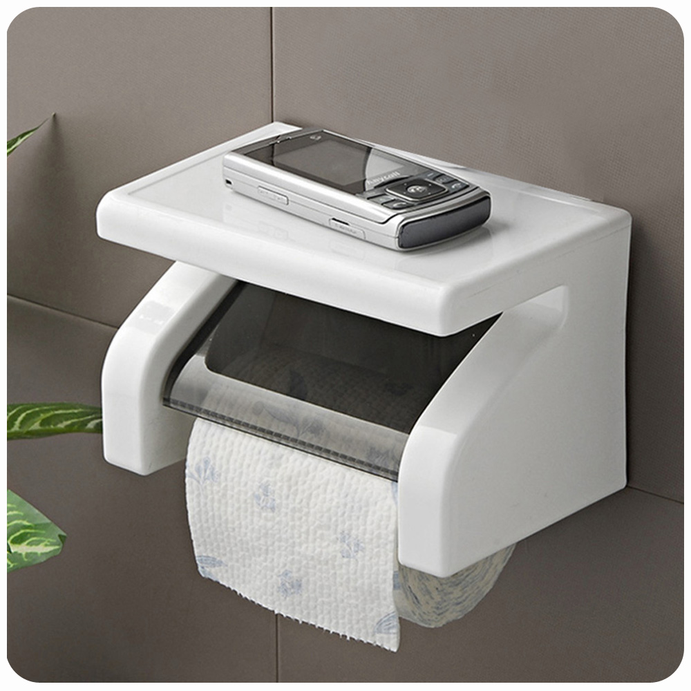Amazing Durable Bathroom Toilet Tissue Holder Roll Paper ... on Wall Mounted Tissue Box Holder id=80102