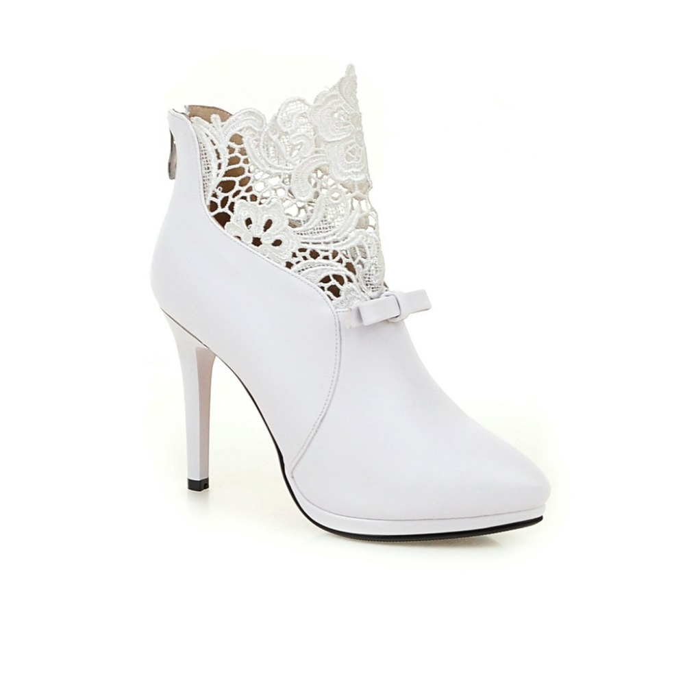 Popular White Short Heel Ankle Boots-Buy Cheap White Short Heel ...