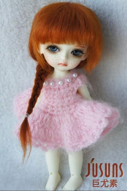 JD211 Frzon mohair doll wigs  1/8 5-6inch Elsa braid BJD hair