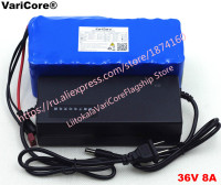 VariCore 36v 8Ah 10S4P 18650 battery pack, modified bicycles, electric vehicle 36v protection with PCB + 2A charger