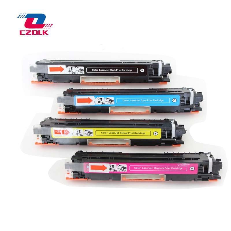 1set X New Compatible CE310A CE311A CE312A CE313A 126A Toner Cartridge For HP Laserjet CP1025 1025nw