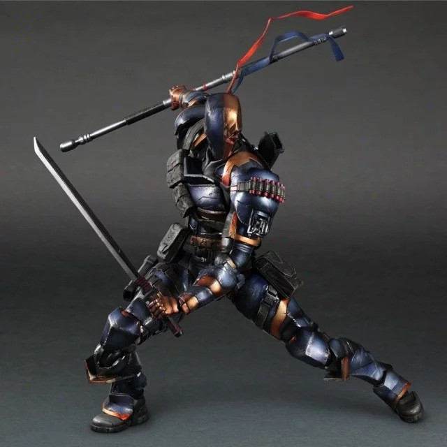Huong Movie Figure 25 CM Batman: Arkham Deathstroke Movable PVC Action Figure Collectible Toy Model Christmas Gift huong anime slam dunk 24cm mitsui hisashi hanamichi sakuragi pvc action figure collectible toy model brinquedos christmas gift