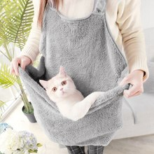 Puppy Cat Dog Carrying Backpack Coral Velvet Rabbit Hair Apron Anti-stick Hug Clothes Hold for Pocket Bag Beds