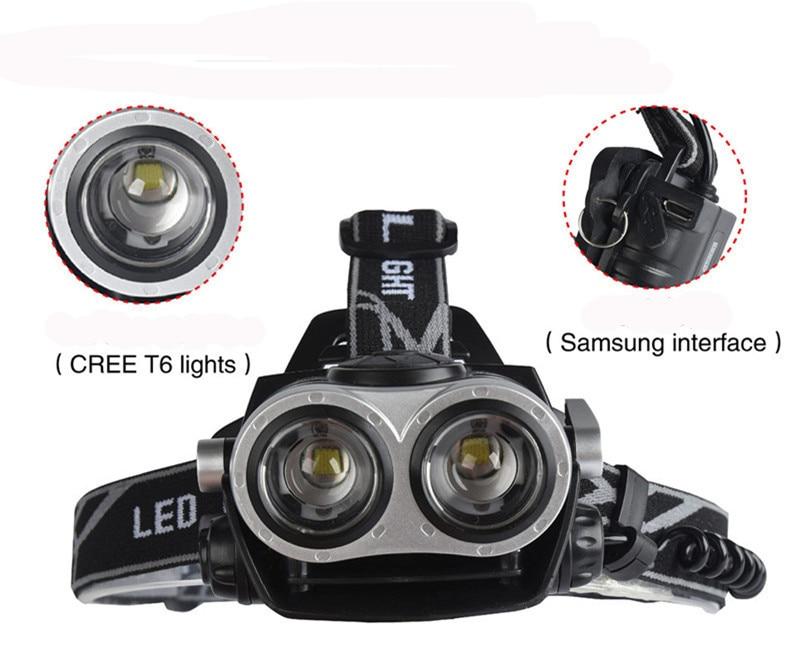 10000Lumnes LED Headlight 2*CREE XML T6 Zoom Headlamp High Power Head Lamp USB Rechargeable Lantern Light For 18650 Battery sitemap 41 xml