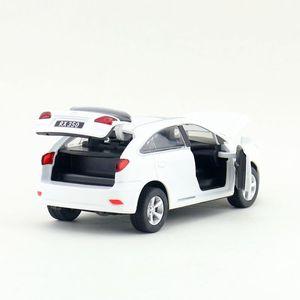 Image 3 - Scala 1:32 Lexus RX350 SUV Sport Toy Car Diecast modello di veicolo tirare indietro suono e luce collezione educativa regalo per bambino