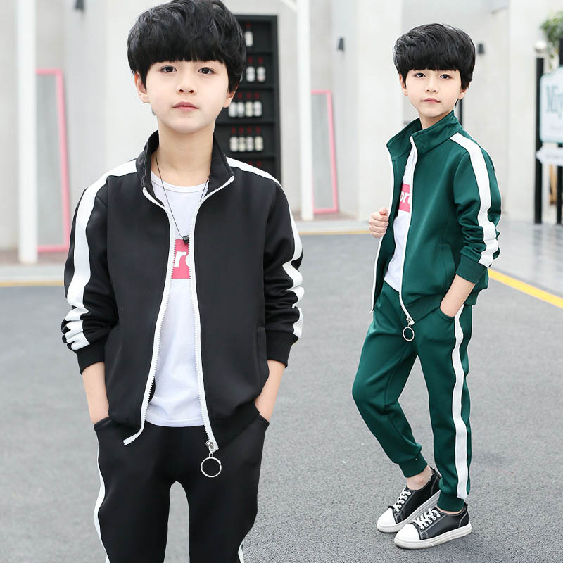 Child Sport Costums Spring Autumn Boys Clothing Sets Children 2 Piece Set Boy Outfit Kids Tracksuit 3 4 6 8 10 12