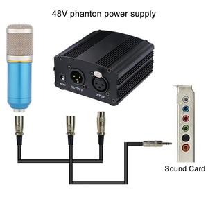 Image 3 - GEVO 48 В фантомный блок питания с адаптером ЕС 3 м аудио XLR кабель для конденсаторного микрофона студийное музыкальное голосовое оборудование для записи