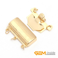 Clasp 3 Strings Yellow 14K Gold Filled Jewelry Clasp 10x20mm One PCS To Sale For Jewelry
