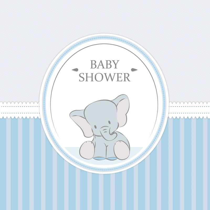 Laeacco Happy Birthday Cartoon Stripes Elephant Baby Shower Portrait Photographic Background Photography Photo Backdrops Studio Полка