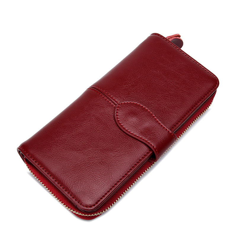 Women Wallet Leather Card Coin Holder Money Clip Long Phone Clutch Vintage Cash Pocket Dollar Price 2017 Hot Red Female Purse luxury leather zipper women long slim wallet ladies handbag clutch card money coin phone holder portomonee female wristlet clip