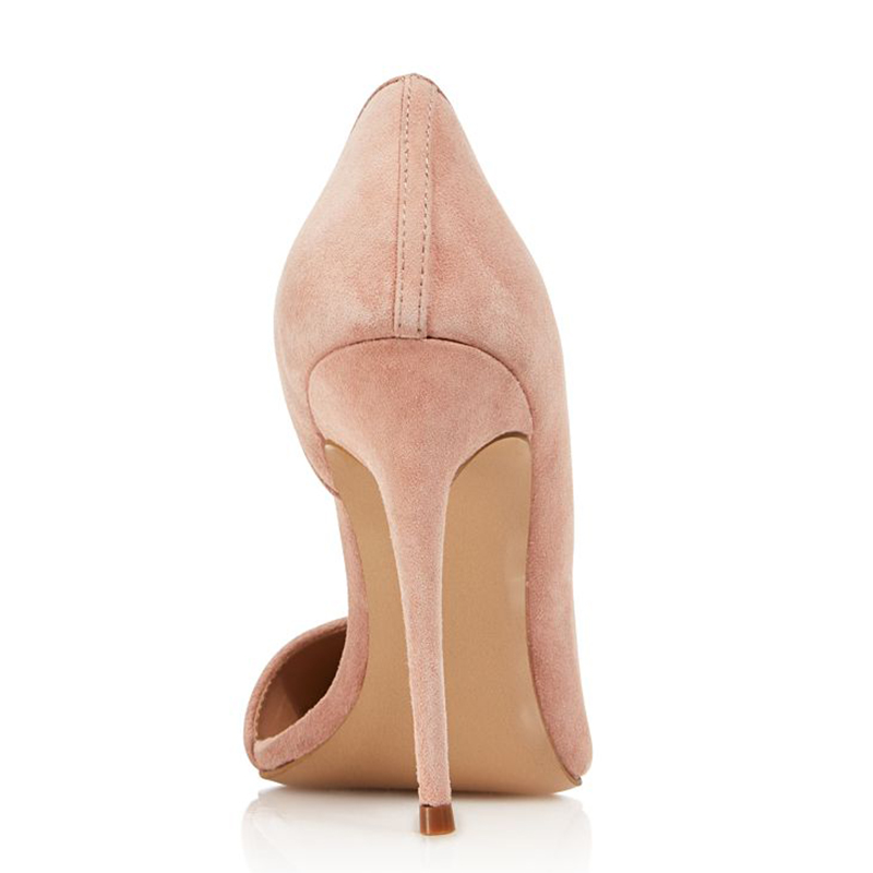 High Heel Slip On Women Pointed Toe Light Pink Women Shoes Woman Pumps Ladies Party Wedding Dress Plus Size Shoes Wholesale in Women 39 s Pumps from Shoes