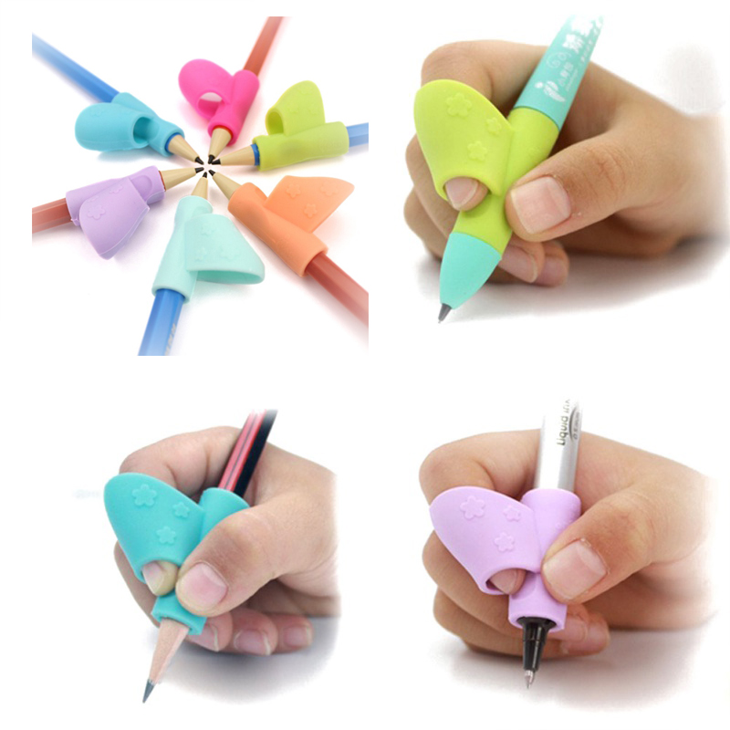 3PCS/Set Back To School Party Favors Children Pencil Holder Pen Writing Aid Grip Posture Correction Early Practice Tools NEW