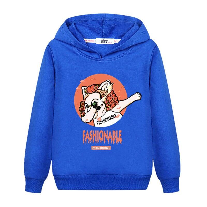 Girls New Fashion Dabbing Hoodie Kids Autumn Cotton Dab Coat Baby Boy Funny Cartoon Sweatshirts 3-14T Child Tops Printed Clothes 5