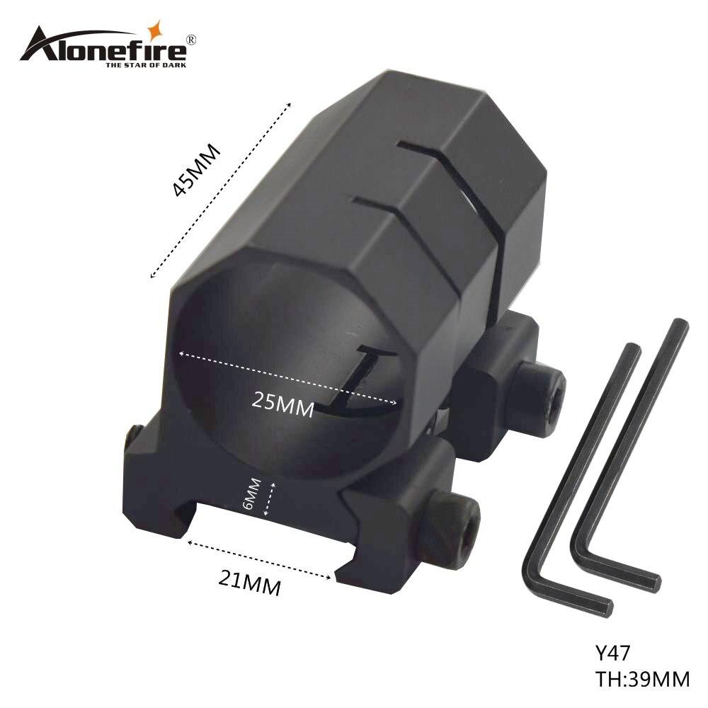 AloneFire Y47 25mm Ring Barrel Mount 20mm Weaver Rail Hunting Mounts For Rifle Adjustable Scope Mount
