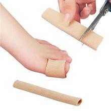 1Pcs 15 centímetros Tecido Gel Tubo Bandagem Dedo & Toe Guarda Protetores de Pé Pés Alívio Da Dor para Cuidados Com Os Pés palmilhas
