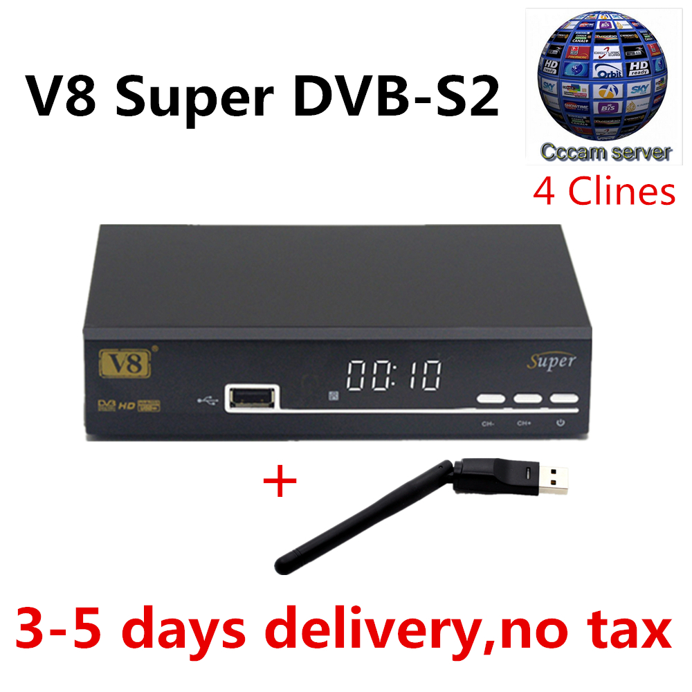 Cccam cline for 1 year on V8 Super DVB S2 Satellite Receiver with Full HD 1080P Spain Poland Germany Europe tv free shipping freesat v7 hd powervu satellite tv receiver dvb s2 with 3months free africa cccam account stable on starsat 5e