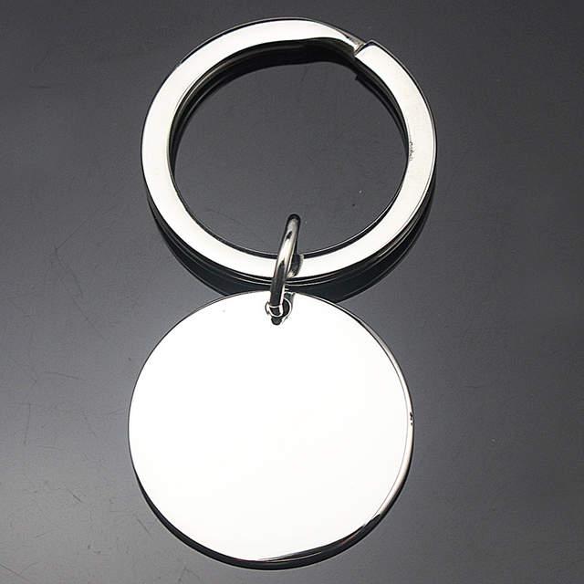 placeholder Logotipo personalizado Artesanato Aço Inoxidável Unisex Rodada  Em Branco Chaveiros de Prata Cor NÃO INCLUINDO O c0b61b45f9