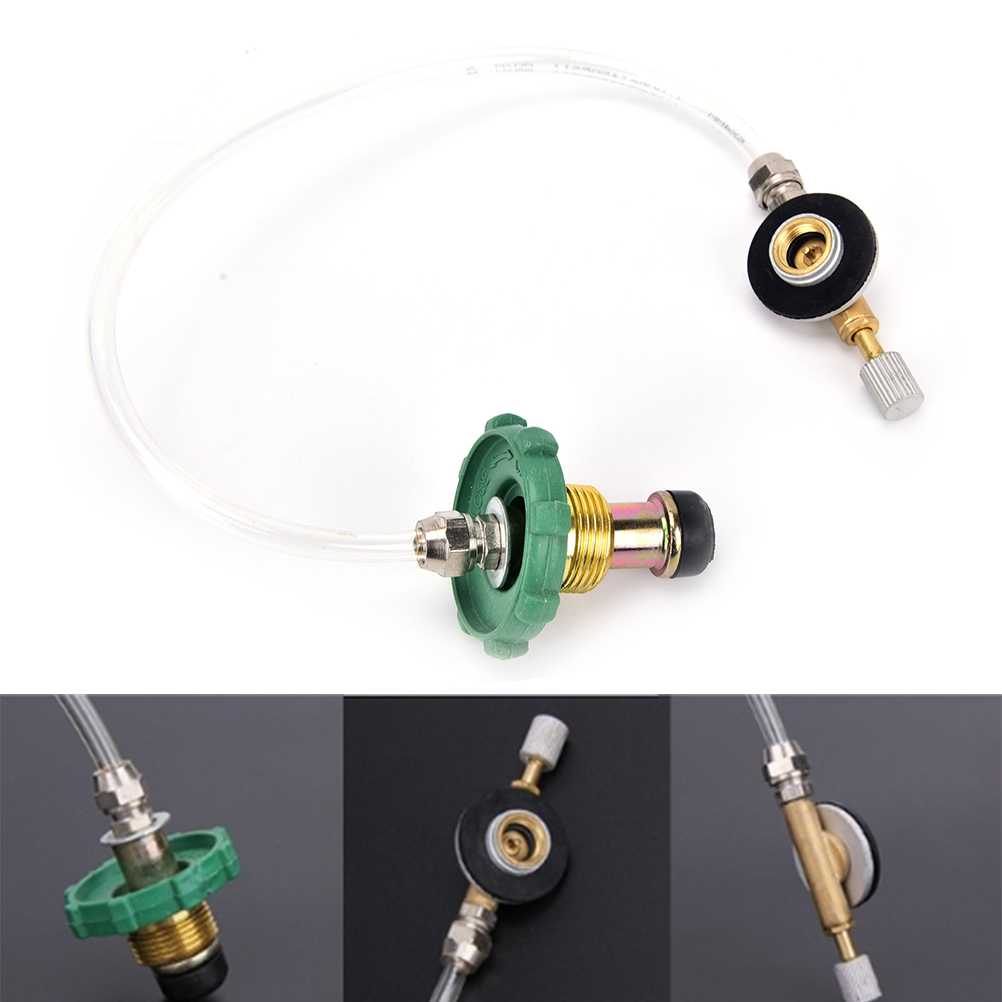 Camping Gas Stove Switching Charging Inflatable Valve Adapter for Flat Tank VH