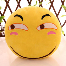 hot deal buy 40cm emoji pillow qq smiley emotion toy plush cushion for sofa car seat home decorative cushions stuffed plush toy emoji
