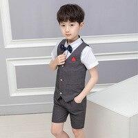 Boys Formal Suit For Wedding Boys Clothes Set Children Suit Boys Suits Kids Blazer 3Pcs set M114