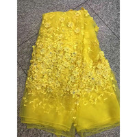 Gold Color African Lace Fabric 2017 New Arrival African Net Lace Wedding Dresses Guipure High Quality