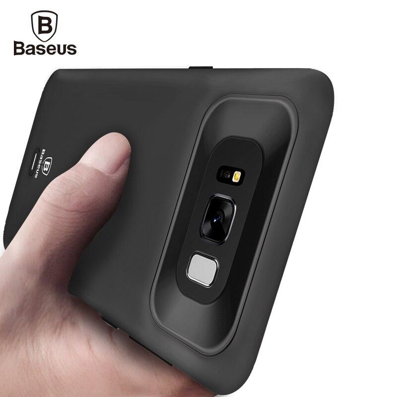 imágenes para De Baseus Cubierta Del Caso Del Cargador Para Samsung Galaxy S8 S8 Caso Banco de la Energía de Carga de la Batería de Reserva Externa Para la Galaxia Más