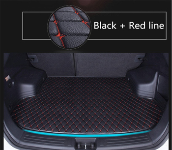 Auto Cargo Liner Trunk Mats For Toyota LAND CRUISER PRADO 150 2010-2018 Car Boot Mat High Quality Embroidery Leather