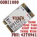 Fru 42t0961 3g gobi1000 wwan card 7.2 mbps + gps para thinkpad x200 x301 desbloqueado