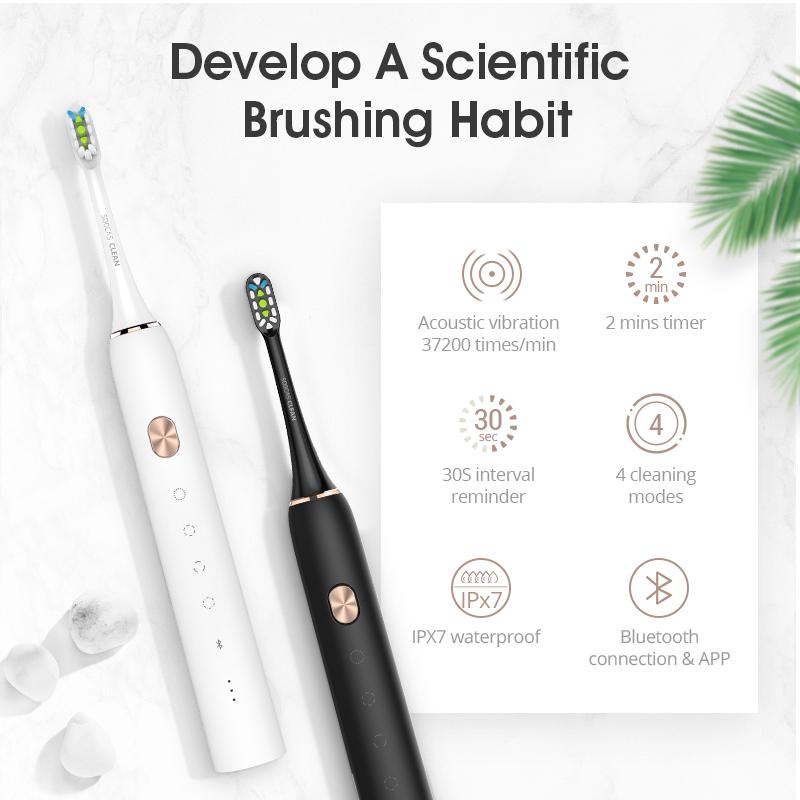 Soocas X3 Waterproof Electric Toothbrush USB Rechargeable Upgraded Sonic Electrric Toothbrush Ultrasonic Toothbrush Xiaomi mijia