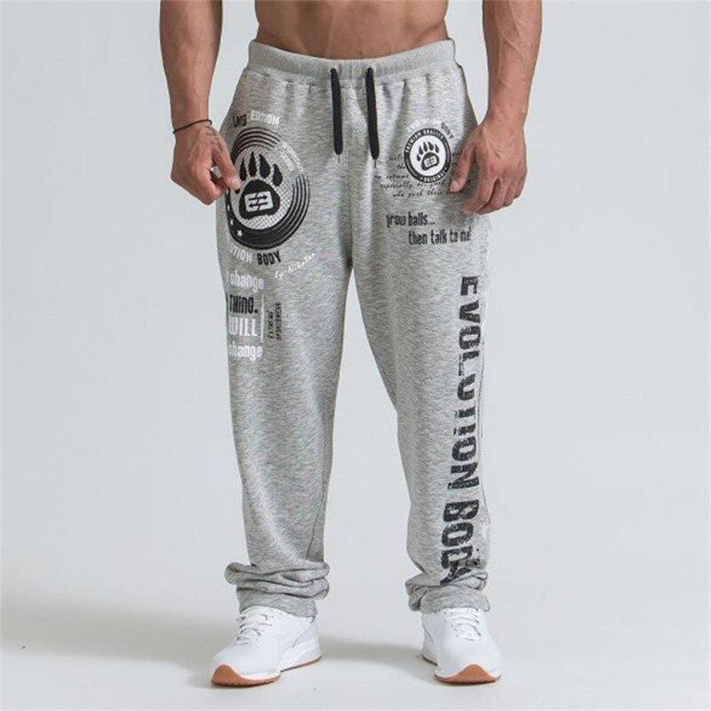 2019 New Men Joggers Solid Color Sport Pants Men Gym Pants Cotton Elastic Long Trousers Men Lace-up Sport Pants Male Leggings