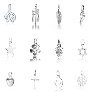 Hot sale 925 sterling silver pendant charms pendant for Women Silver Jewelry making Necklace bracelet earring diy 12 styles
