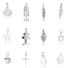Hot sale 925 sterling silver pendant charms pendant for Women Silver Jewelry making Necklace bracelet earring diy 12 styles(China)