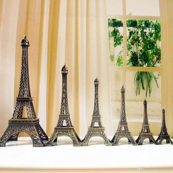8cm-60cm Antiques Bronze Retro Paris Eiffel Tower Home Decor Table Ornament Statue Metal Steel 1