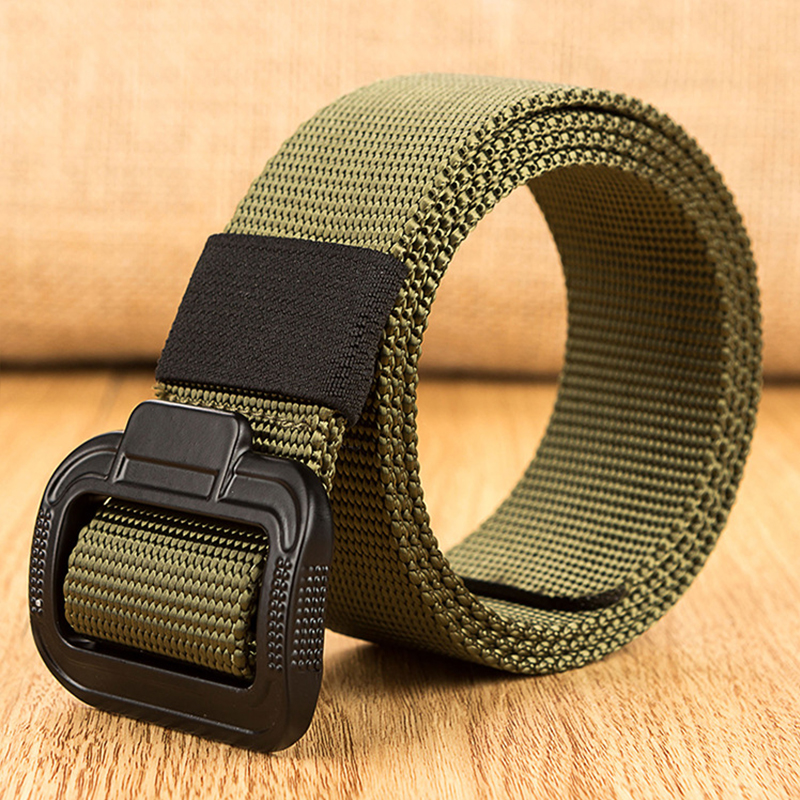 2018 New Outdoor Army Tactical Belt Military Nylon Belts Mens Waist Swat Strap With Buckle Rappelling Casual Canvas Black Belt
