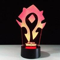 Dünya Warcraft Modeli El Sanatları Lamba 7 Renk Değiştirme Illusion Görselleştirme Nightlight Festivali Fener Glow Noel Parti Iyilik