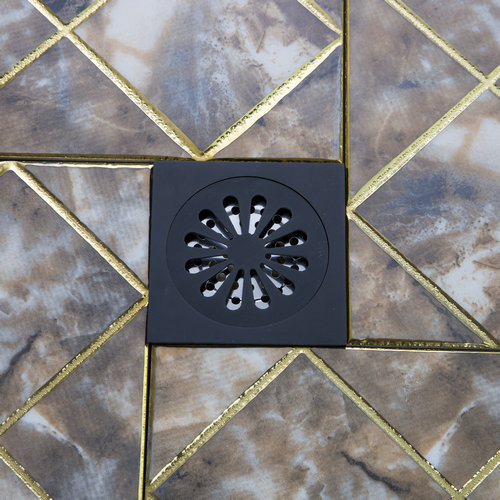 Bathroom Accessory Floor Drain Bathroom Oil Rubbed Black Bronze Flower 5382 Carved Drain Shower Waste Drainer Art Floor Drain oil rubbed bronze square floor drain cover bathroom 4 inch waste drainer free shipping