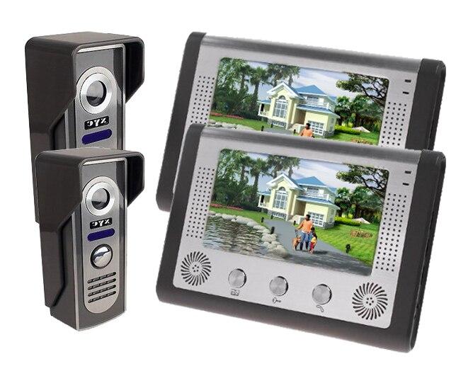 Freeship by DHL 7 Inch Video Intercom Doorbell Door Phone Intercom Night Vision Wired Phones Intercom Systems