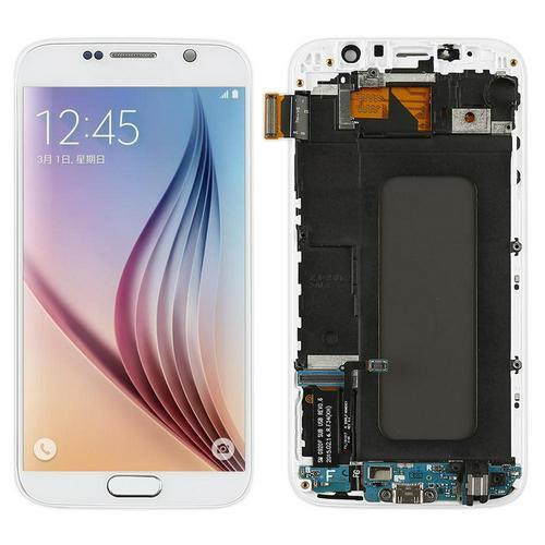Móvil de pantalla para Samsung Galaxy G920F G920 S6 digitalizador pantalla LCD con marco para Samsung G920FD G920 G920FQ