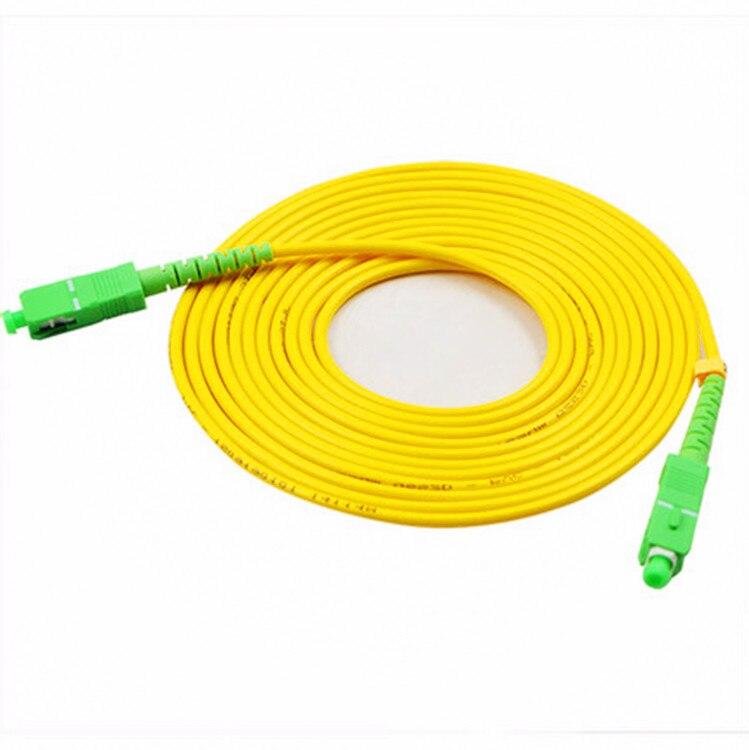 10PCS/bag SC APC Simplex mode fiber optic patch cord Cable  3.0mm FTTH  LSZH Fiber Optic Patch Cord 3