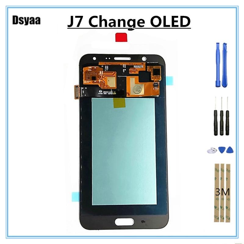 5.5 pouces changement OLED pour Samsung pour Galaxy J7 J700 LCD écran tactile assemblée téléphone portable affichage numériseur assemblée