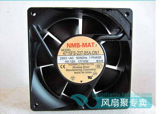 The original 12cm12038 230V 15W 4715fs-23t-b5a Minebea 17 / 120 x 120 x 38mm AC fan delta new ffr1212dhe 12038 12cm super fan 12v 6 3a car booster fan violence 120 120 38mm