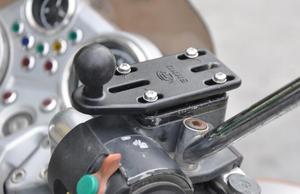 Image 2 - 1 inch ball motorrad pumpe montieren basis für gopro hero kamera, camcoders, dslr und smartphone für ram mounts 25mm ball