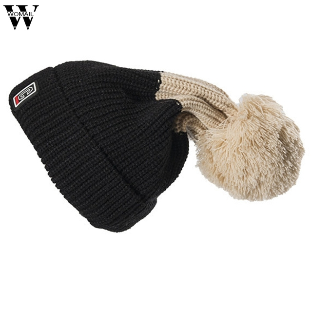 6e1d3d50bee New Hats 1PC Women Hat Warm Crochet Winter Wool Knit Beanie Skull Caps Hat  Hairy Bulb