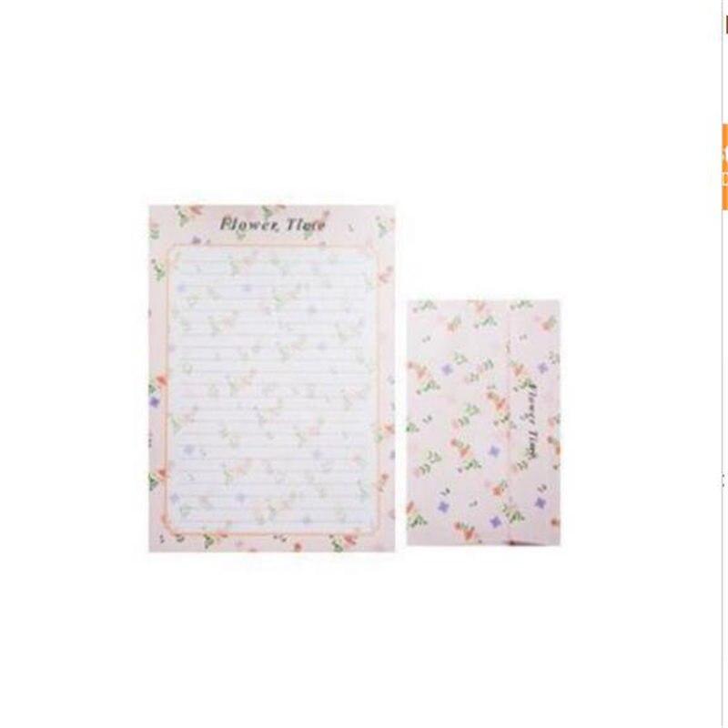 Coloffice (6 Letter Paper+3 Envelopes) /set Romantic Retro Cute Cartoon Small Floral Sweets Envelope Letter Set Office Supplies