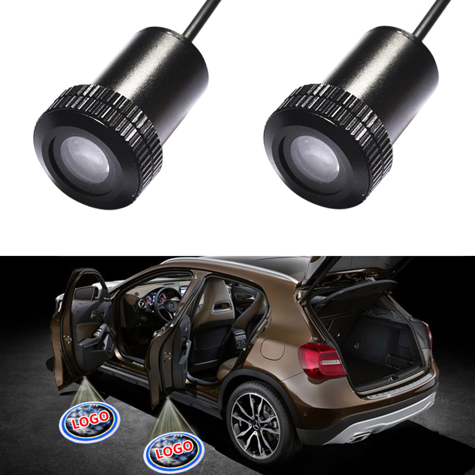 2PCS Car Professional Auto LED Laser 3D Logo Step Lamps Ghost Shadow Courtesy Door Light Projector 1 pair auto brand emblem logo led lamp laser shadow car door welcome step projector shadow ghost light for audi vw chevys honda