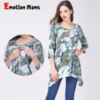 Emotion Moms pregnancy Maternity clothes nursing clothing Nursing Top Breastfeeding T shirt For Pregnant Women maternity tops